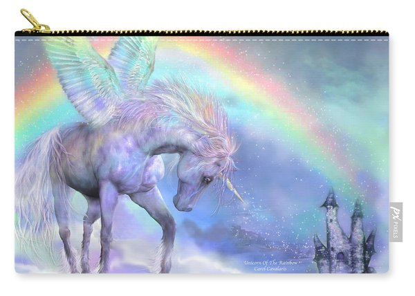 Unicorn Of The Rainbow Carry-all Pouch