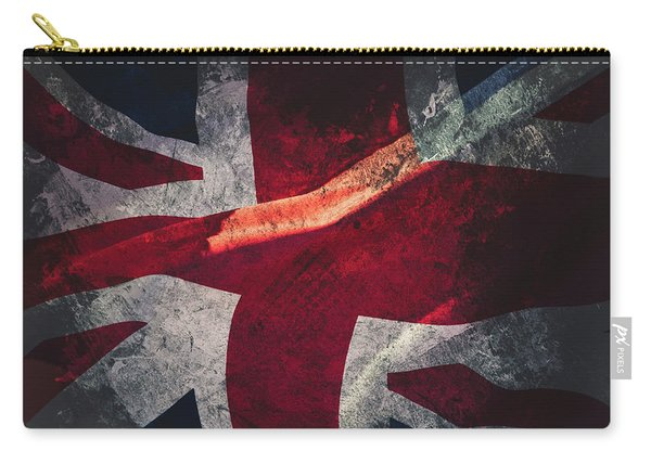 Union Jack Fine Art, Abstract Vision Of Great Britain Flag Carry-all Pouch