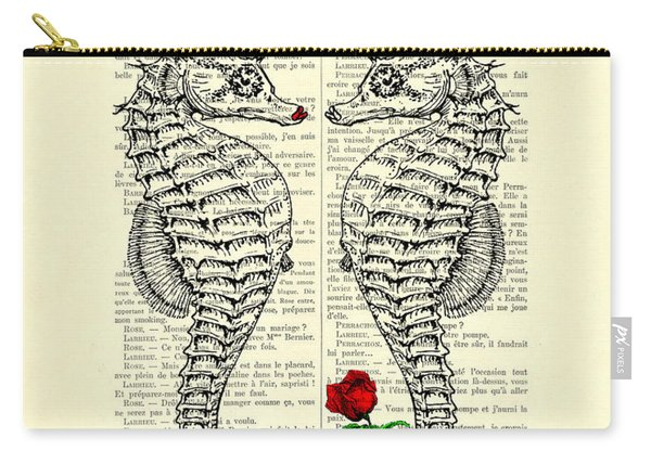 Unique Valentines Day Gift Ideas, Seahorses Carry-all Pouch