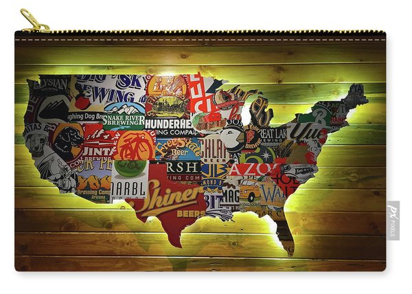 United States Wall Art Carry-all Pouch