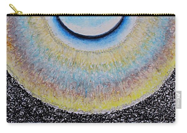 Universal Eye In Blue Carry-all Pouch