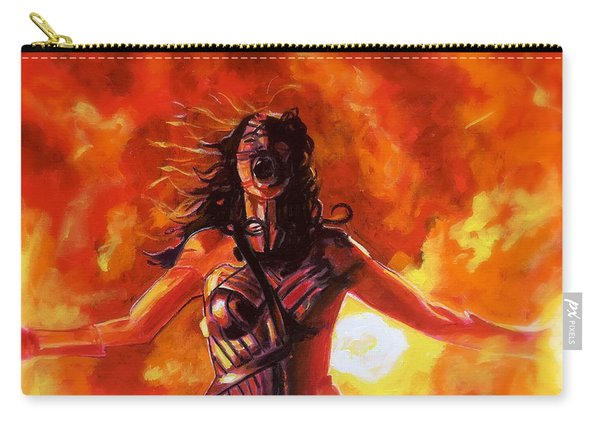 Carry-all Pouch featuring the painting Unleashed by Joel Tesch