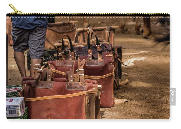Unloading Mules At Phantom Ranch Carry-all Pouch