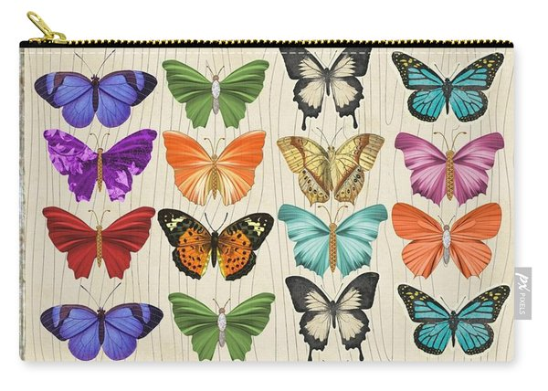 Colourful Butterflies Collage Carry-all Pouch