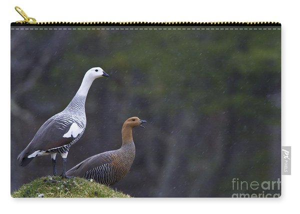 Upland Geese In The Rain Carry-all Pouch