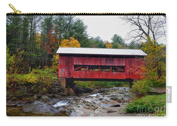 Upper Cox Brook Covered Bridge In Northfield Vermont Carry-all Pouch