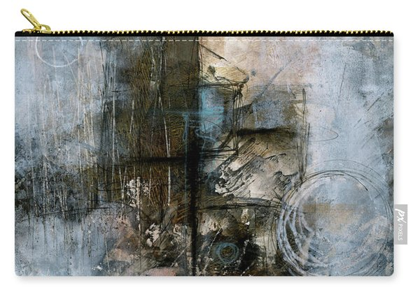 Urban Abstract Cool Tones Carry-all Pouch