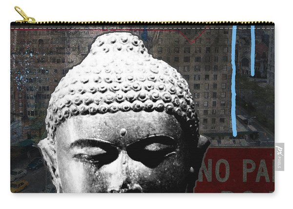 Urban Buddha 4- Art By Linda Woods Carry-all Pouch