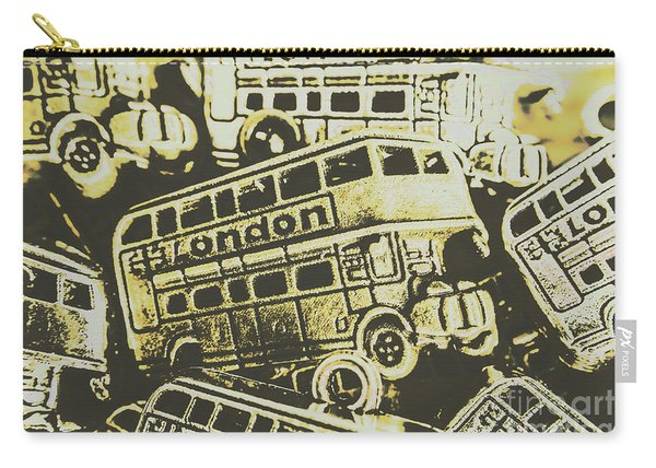Urban Bus Mural Carry-all Pouch