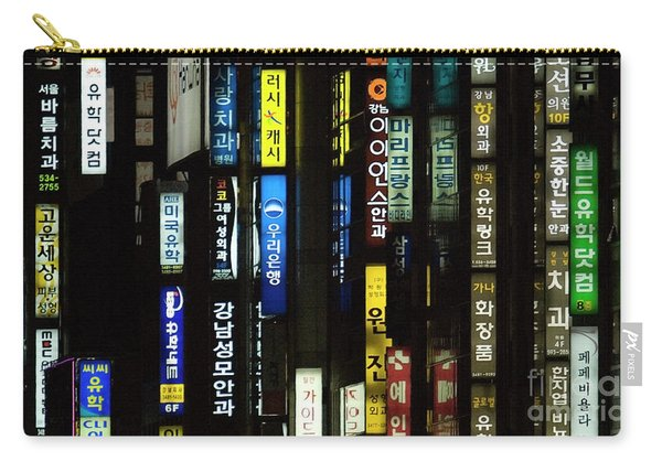 Urban City Light - Seoul Messages  Carry-all Pouch