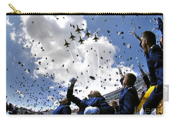 U.s. Air Force Academy Graduates Throw Carry-all Pouch
