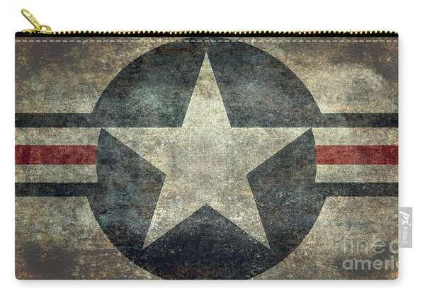 Us Air Force Roundel With Star Carry-all Pouch