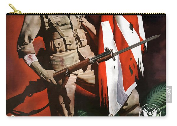 Us Army -- World War Two Propaganda Carry-all Pouch