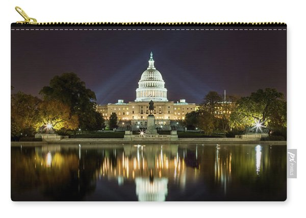 Us Capitol Night Panorama Carry-all Pouch