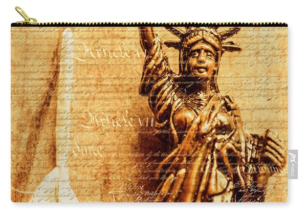 Us Constitution Carry-all Pouch