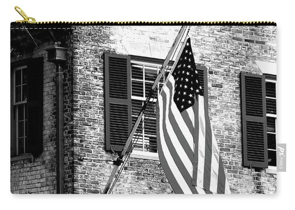 Us Flag In Colonial Williamsbug Carry-all Pouch