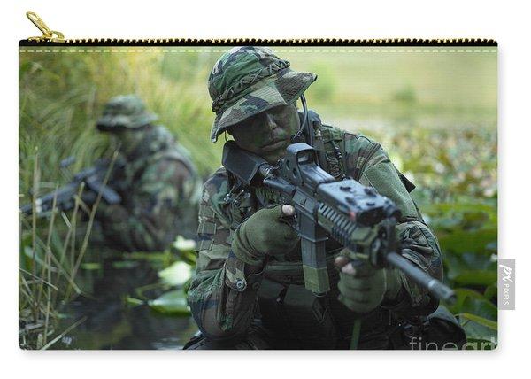 U.s. Navy Seals Cross Through A Stream Carry-all Pouch