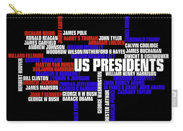 Us Presidents Typography Carry-all Pouch