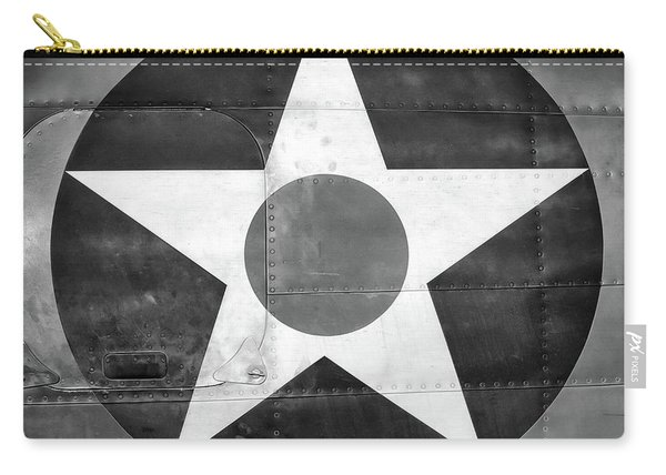 Us Roundel, In Black And White - 2017 Christopher Buff, Www.aviationbuff.com Carry-all Pouch