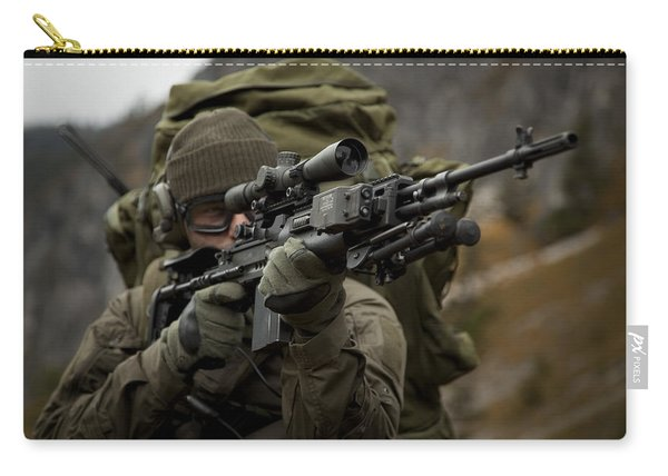 U.s. Special Forces Soldier Armed Carry-all Pouch