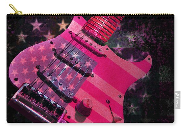 Usa Pink Strat Guitar Music Carry-all Pouch