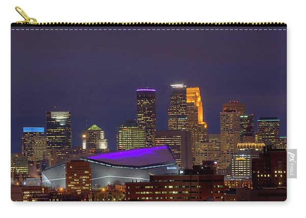 Usbank Stadium Dressed In Purple Carry-all Pouch