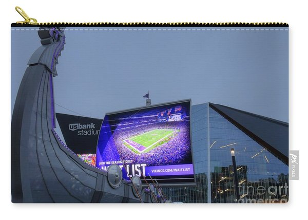 Usbank Stadium Viking Ship Carry-all Pouch