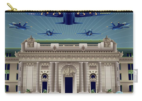Usna Bancroft Hall Blue Angels Show Carry-all Pouch