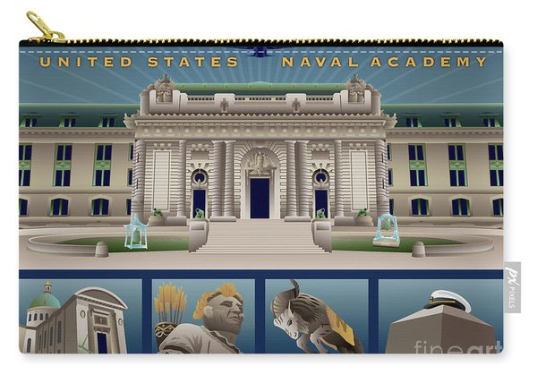 Usna Class Of 2018 Monuments Carry-all Pouch