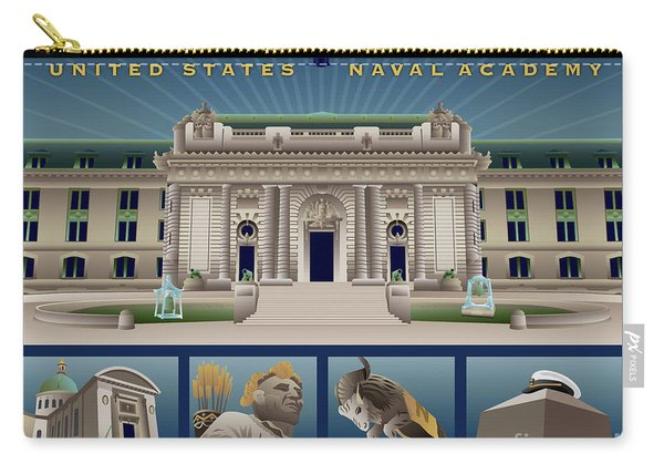 Usna Monuments Tribute 1 Carry-all Pouch
