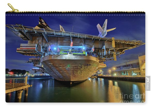 Uss Midway Aircraft Carrier  Carry-all Pouch