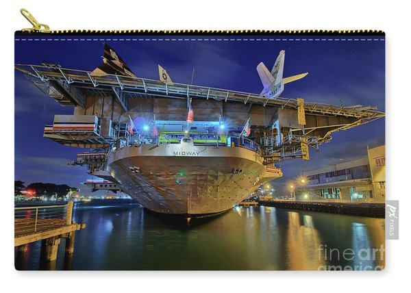 Carry-all Pouch featuring the photograph Uss Midway Aircraft Carrier  by Sam Antonio Photography