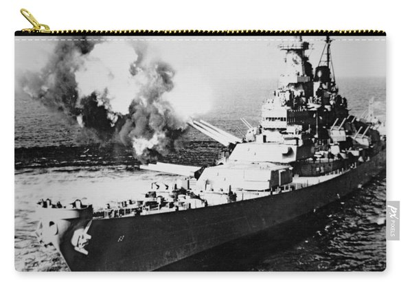 Uss Missouri Firing 16-inch Salvo At Chong Jim, Korea 1950 Carry-all Pouch