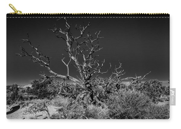 Utah Juniper In Black And White Carry-all Pouch