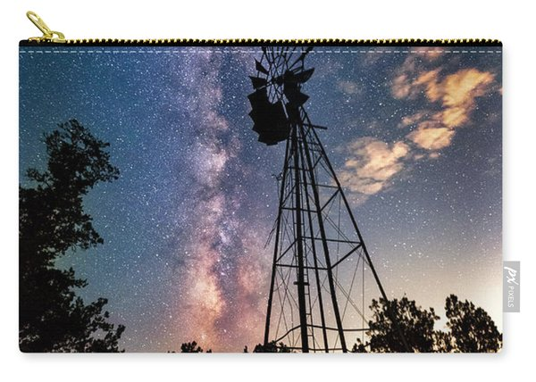 Utah Windmill And Milky Way Carry-all Pouch