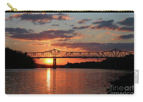 Utica Bridge At Sunset Carry-all Pouch