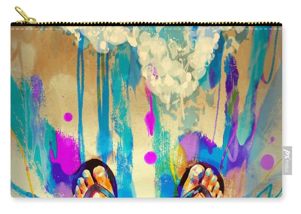 Carry-all Pouch featuring the painting Vacation Time by Tithi Luadthong