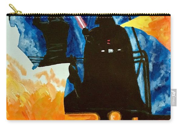 Carry-all Pouch featuring the painting Vader by Joel Tesch
