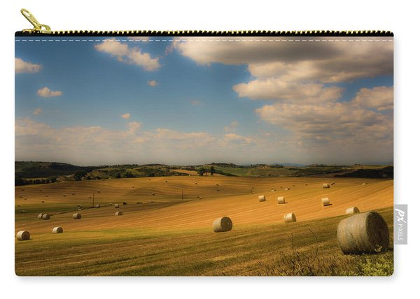Val D'orcia Field With Hay Balls Carry-all Pouch