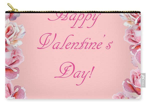 Valentine Roses Carry-all Pouch