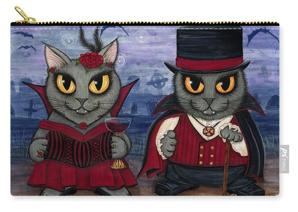 Vampire Cat Couple Carry-all Pouch