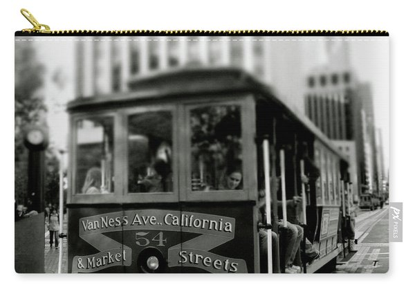 Van Ness And Market Cable Car- By Linda Woods Carry-all Pouch