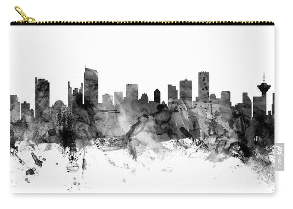 Vancouver Canada Skyline Panoramic Carry-all Pouch