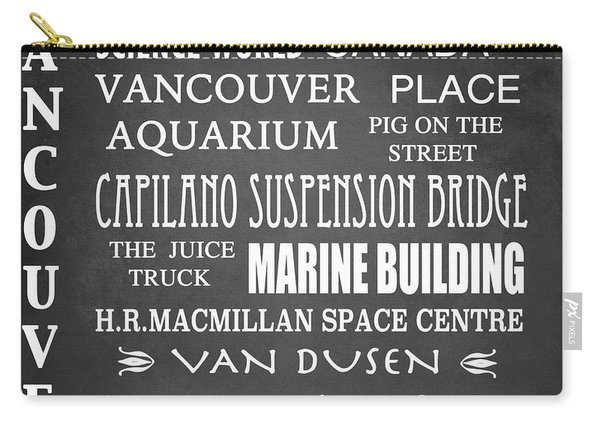 Vancouver Famous Landmarks Carry-all Pouch