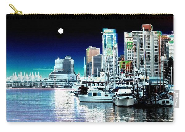 Vancouver Harbor Moonrise  Carry-all Pouch