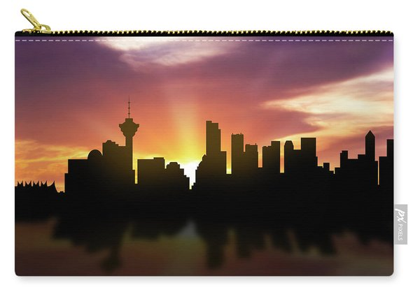 Vancouver Skyline Sunset Cabcva22 Carry-all Pouch