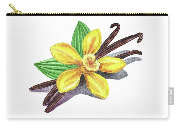 Vanilla Sticks And Flower Carry-all Pouch