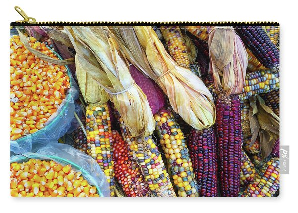 Variety Of Colorful Corn Carry-all Pouch
