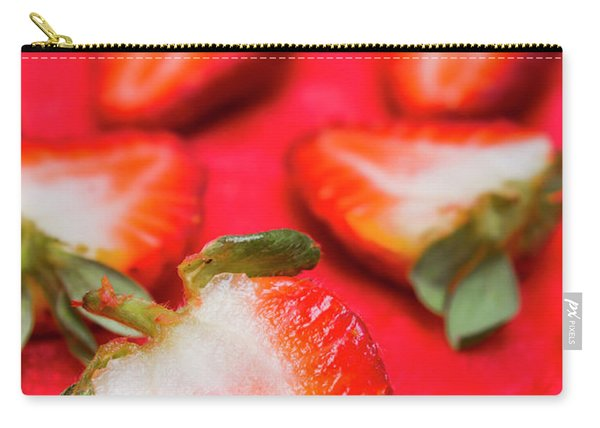 Various Sliced Strawberries Close Up Carry-all Pouch