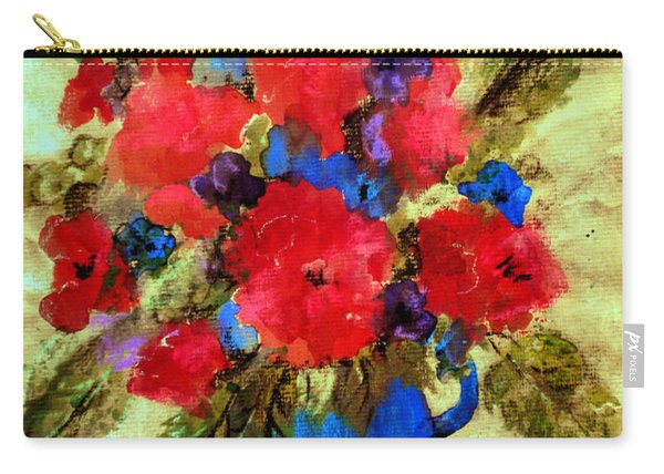 Vase Of Delight-still Life Painting By V.kelly Carry-all Pouch